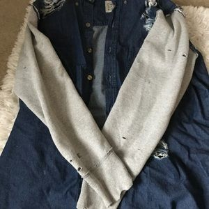 LF furst of a kind denim jacket with sleeves